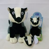 Soft Toy or Keyring/Bag Charmer - Reggie Badger