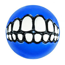 Rogz Grinz Treat Ball - Medium Blue