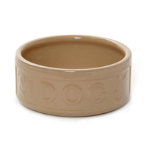 Lettered Dog Bowl