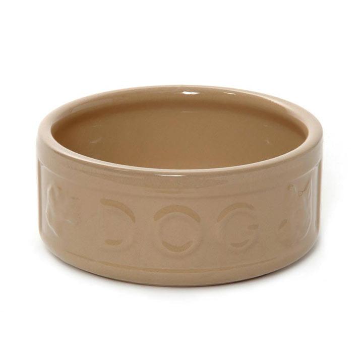 Lettered Dog Bowl