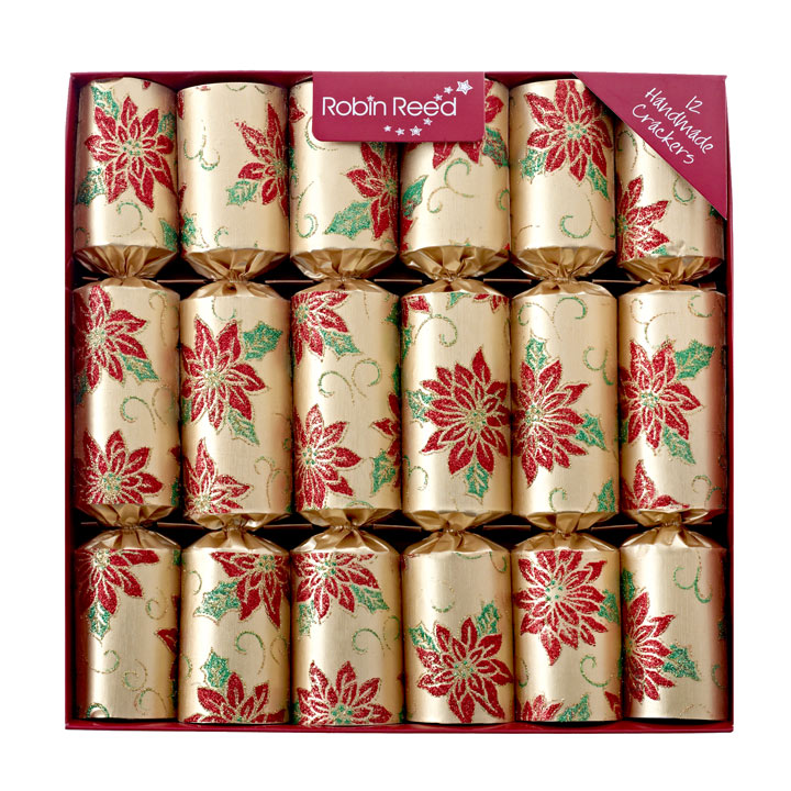 Gold Poinsettia Crackers
