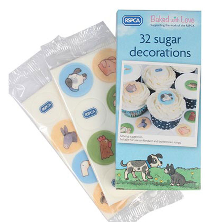 Baked with Love RSPCA Printed Sugarette Decorations
