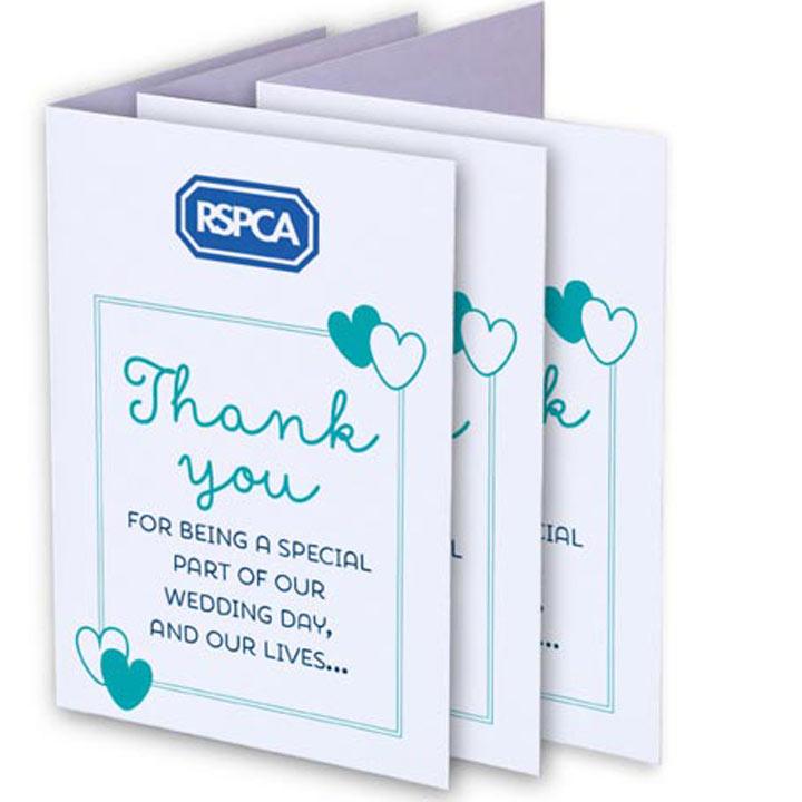 RSPCA Wedding Favour Cards