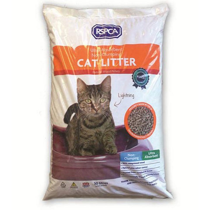 RSPCA Non-Clumping Wood Pellet Cat Litter