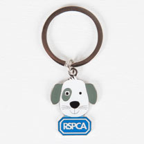 Rufus the Puppy Keyring