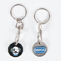 Rufus the Puppy Trolley Token Key Ring