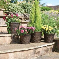 Hampton Planters (4) - Antique Bronze