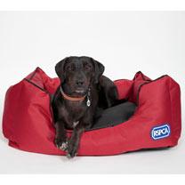 RSPCA Tough Rectangular Dog Bed - Red