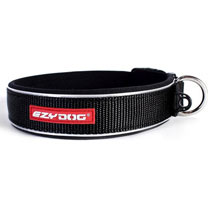 EzyDog Neo Classic Dog Collar - Black Extra Large