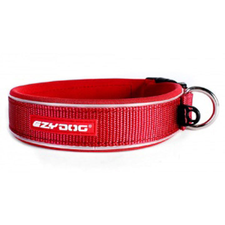 EzyDog Neo Classic Dog Collar Red - Large