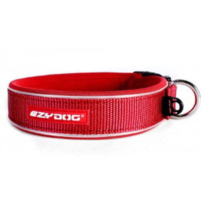 EzyDog Neo Classic Dog Collar Red - Extra Large
