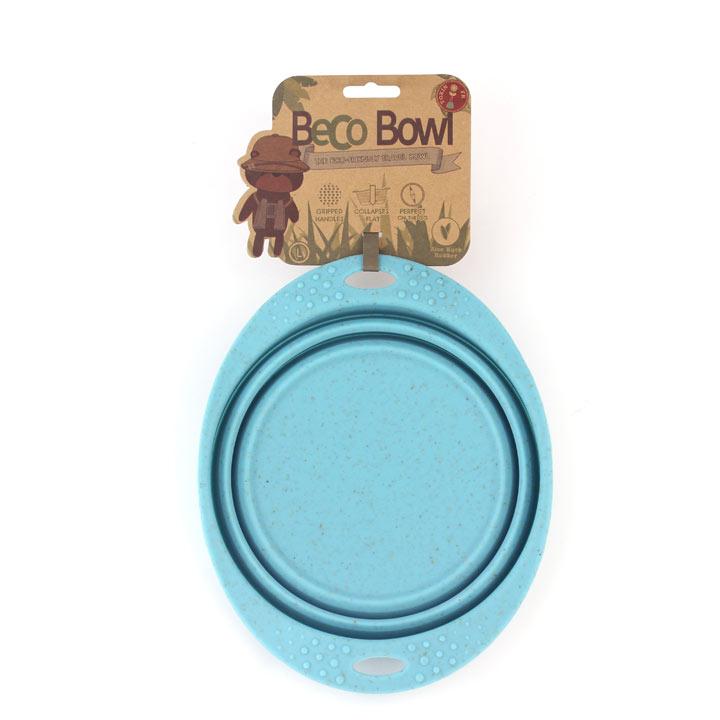 Beco Dog Travel Bowl - Small Blue