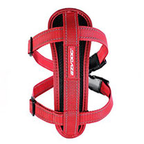EzyDog Chest Plate Dog Harness - Large Red