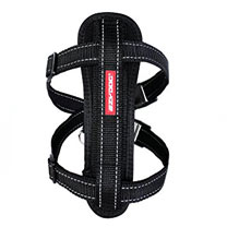 EzyDog Chest Plate Dog Harness - Medium Black