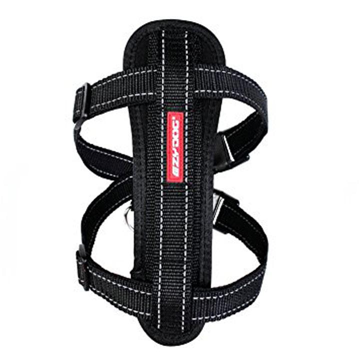 EzyDog Chest Plate Dog Harness - Medium Black