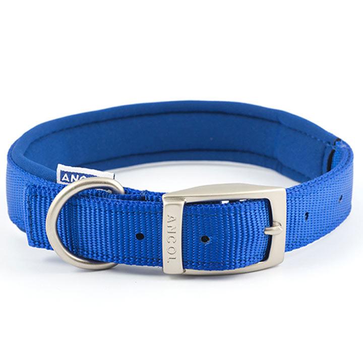 Blue Ancol Padded Dog Collar - Large