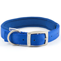 Blue Ancol Padded Dog Collar - Medium