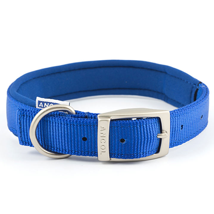 Blue Ancol Padded Dog Collar - Small
