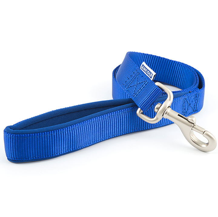 Blue Ancol Padded Dog Lead - Small