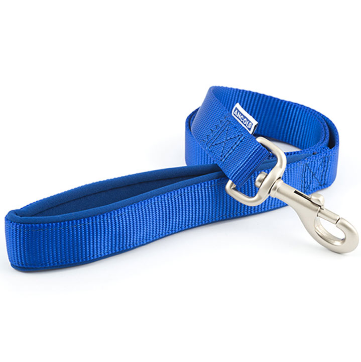 Blue Ancol Padded Dog Lead - Large