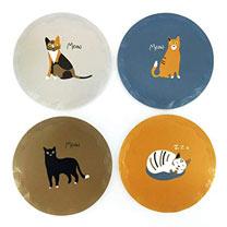 Meow Cat Round Ceramic Coasters