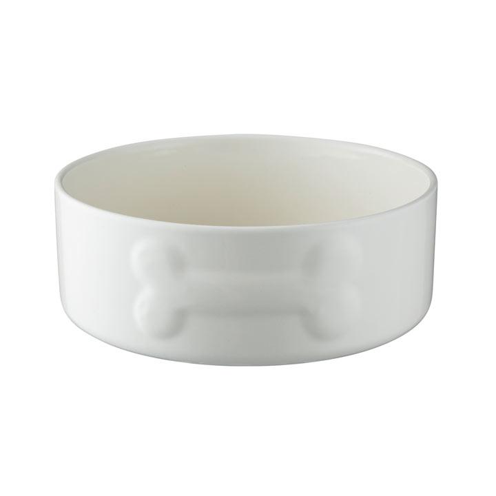 Cream Large Dog Bowl