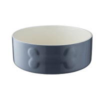 Grey Large Dog Bowl