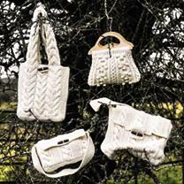 Cream Arran Knit Bag
