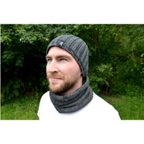 Neckwarmer & Hat - Charcoal