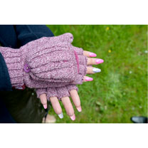 Neckwarmer & Mittens - Ladies Rose