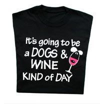 T-Shirt Dogs & Wine