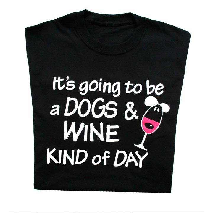 T-Shirt Dogs & Wine