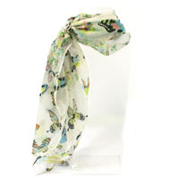 Scarf - Blue Crinkle or Cream Crinkle