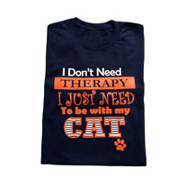 T-shirt Cat Therapy