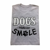 T-shirt Dogs Make Me Smile - S/M