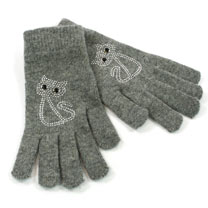 Gloves - Grey Cat