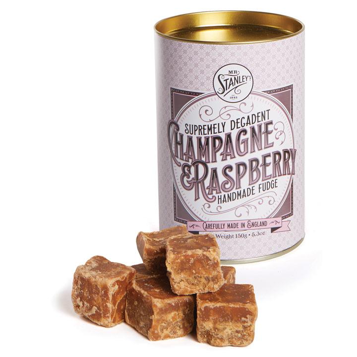 Champagne & Raspberry Fudge