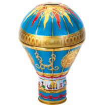 Blue Hot Air Balloon Tin