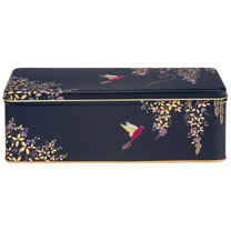 Elegant Birds Biscuit Tin