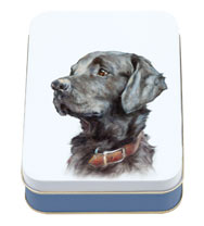 Black Labrador Tin