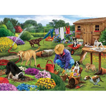 Garden Dogs Jigsaw