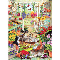 Allotment Kittens Jigsaw
