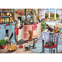 Cats in the Kitchen Jigsaw