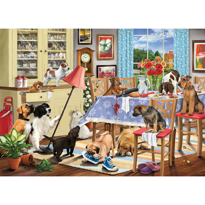 Dogs in the Dining Room Jigsaw