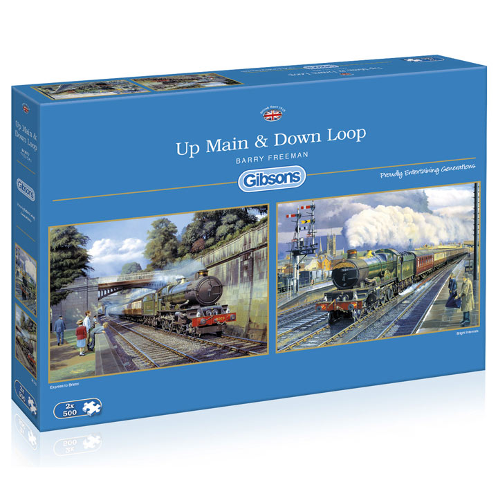 Up Main & Down Loop Jigsaws - 2 x 500pce