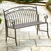 Versailles Garden Bench - Antique Grey