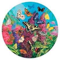 Circular Jigsaw - Butterflies