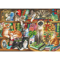 Puss in Books Jigsaw
