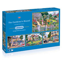 Gardener's Round Jigsaw