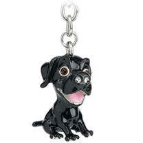 Little Paws Keyring - Labrador Black